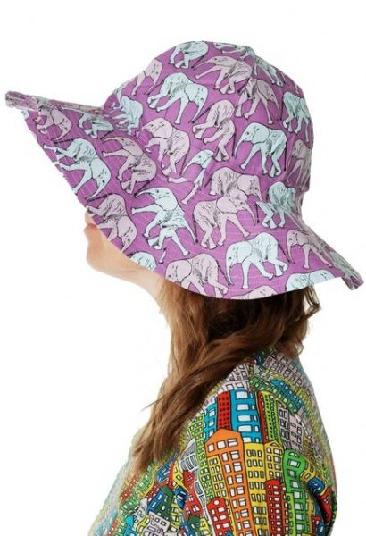 Duns Sun Hat Elephant Purple